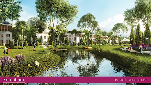 Villas mặt kênh Lakeside Palace