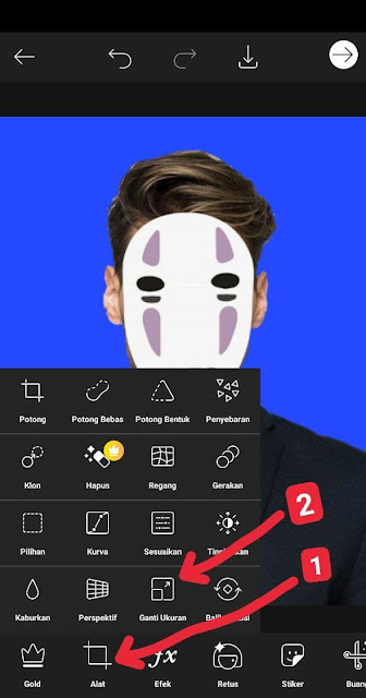 ubah resolusi di aplikasi picsart