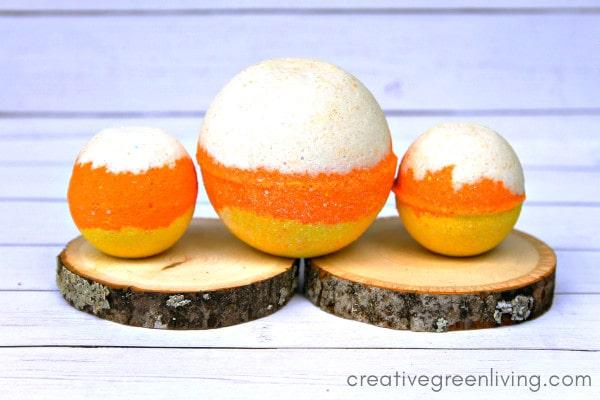 Candy Corn DIY Bath Bomb Recipe for Halloween
