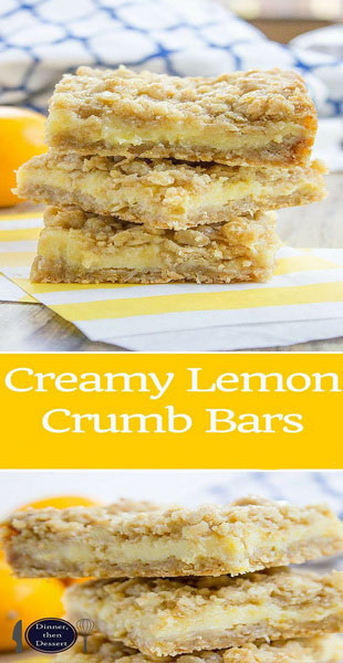 Easy Creamy Lemon Crumb Bars Recipe