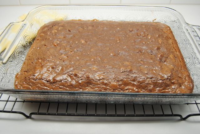 Frosted Fudge Walnut Brownies at Miz Helen's Country Cottage
