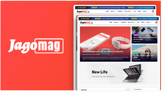 Blog Template Gratis JagoMag 2 Template Blogger Majalah Terbaik