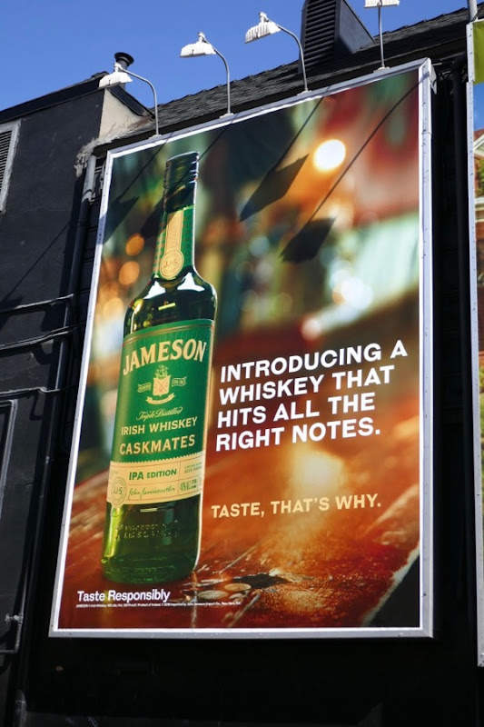 Jameson Whiskey Caskmates right notes billboard