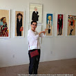 Laurel Hawkswell - Edmonton Artist: Checking out Gerry Rasmussen's Art Show