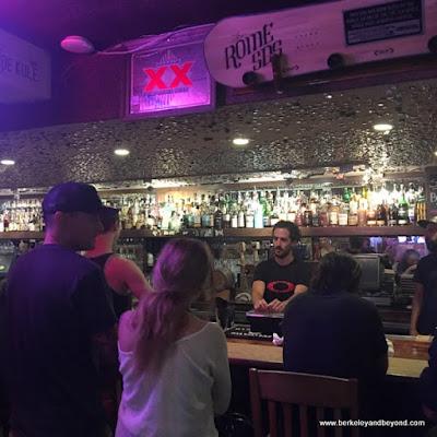 bar at Clocktower Cellar at Petra's Bistro & Wine Bar in Mammoth Lakes, California