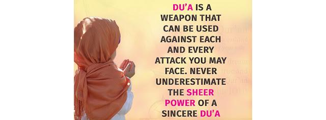 Dua is a weapon