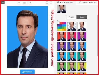 Mengubah background foto menjadi warna biru