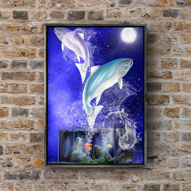 Pisces aquatic horoscope artwork, Mark Taylor, Beechhouse Media,
