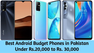 Best Android Budget Phones in Pakistan Under Rs.20,000 to Rs. 30,000