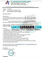 Loker Surabaya di PT. Sahabat Inti Kurnia Abadi (SIKAB) Juni 2020