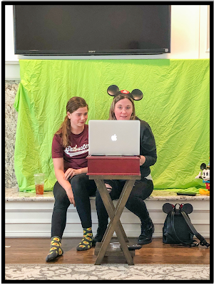 Engaging learners with a green screen and Disneyland virtual trip