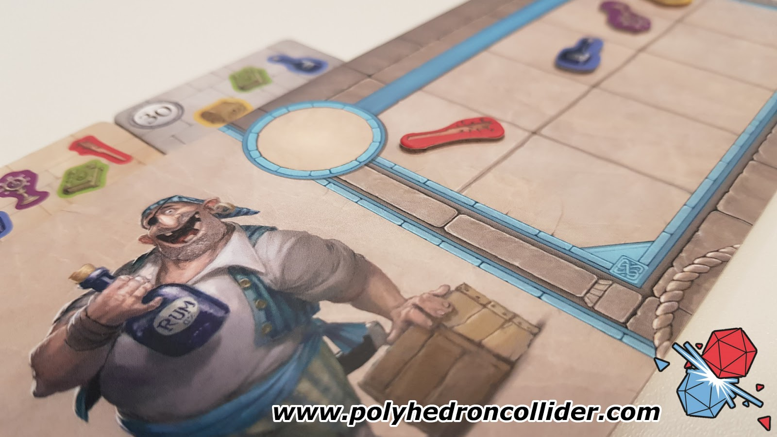 Polyhedron Collider Slyville Board Game Review - Player Board Close Up