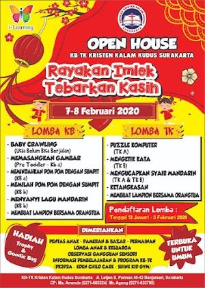 KB-TK Kristen Kalam Kudus Surakarta Gelar Open House 2020