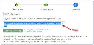 Mendaftar dan Memasang Iklan Propeller Ads