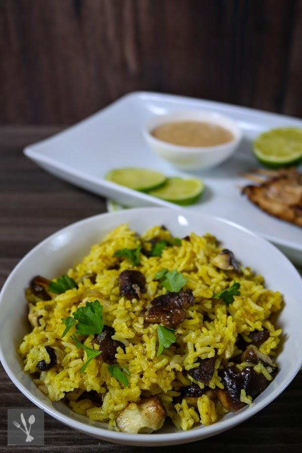Shitake-Curryreis