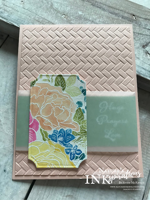 By Angie McKenzie on this Watercolor Wednesday; Click READ or VISIT to go to my blog for details! Featuring the  Breathtaking Bouquet and Positive Thoughts Stamp Sets; #stampinup #handmadecards #naturesinkspirations #stationerybyangie #stamparatus #floralcards #anyoccasioncards #friendshipcards #makingotherssmileonecreationatatime #breathtakingbouquetstampset #positivethoughtsstampset #cardtechniques