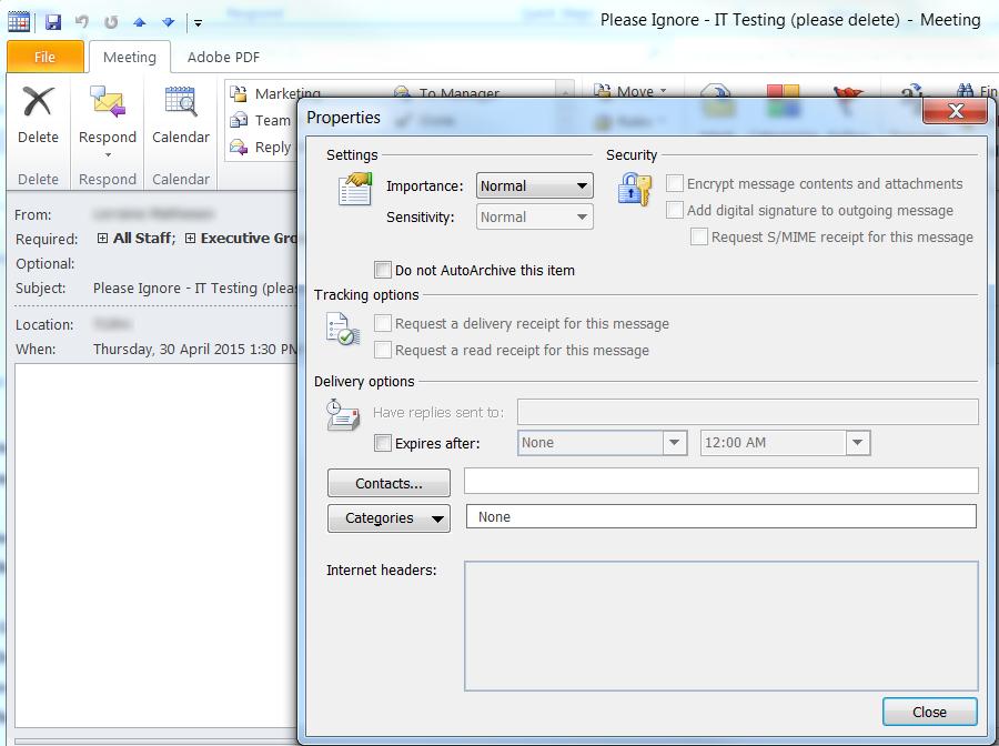 Clint Boessen's Blog: Outlook Meeting Request Randomly Sending Twice