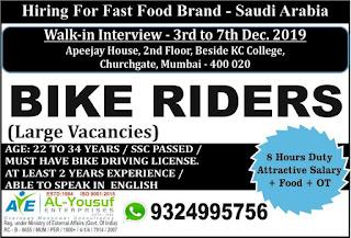 Bike Riders for Fast Food Brand