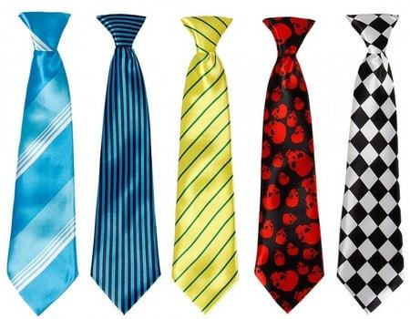 types of neckties how
