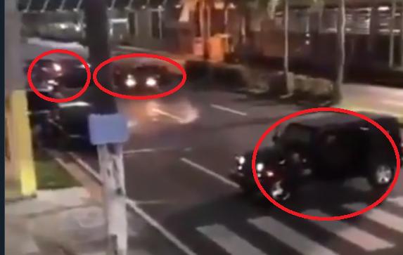 Video.- Se les cruzaron, En el camino Sicarios dieron cerrón e intercambiaron balas trataron de rematar al Ex Gobernador de Jalisco