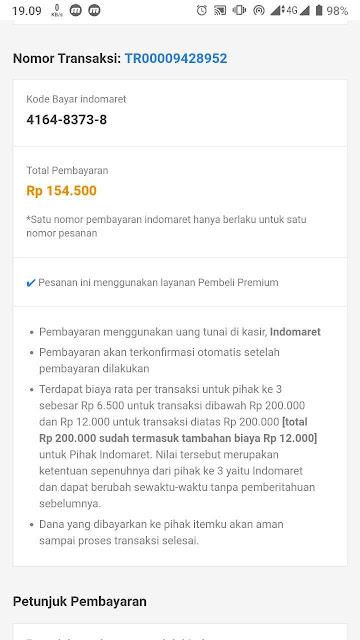 Kode Pembayaran Itemku di Indomaret