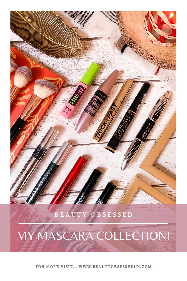My Mascara Collection Pinterest Graphic