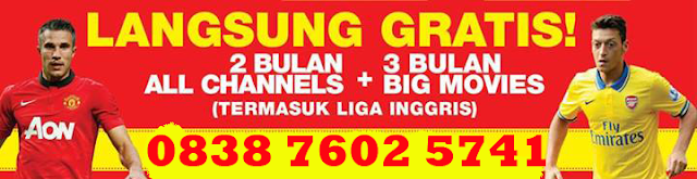 Promo Big TV Terbaru Desember 2013