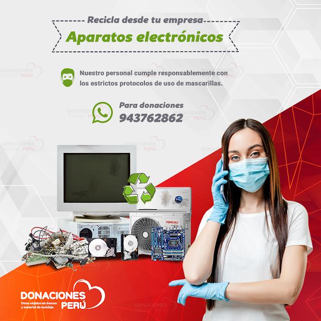 Recicla desde tu empresa Aparatos electrónicos