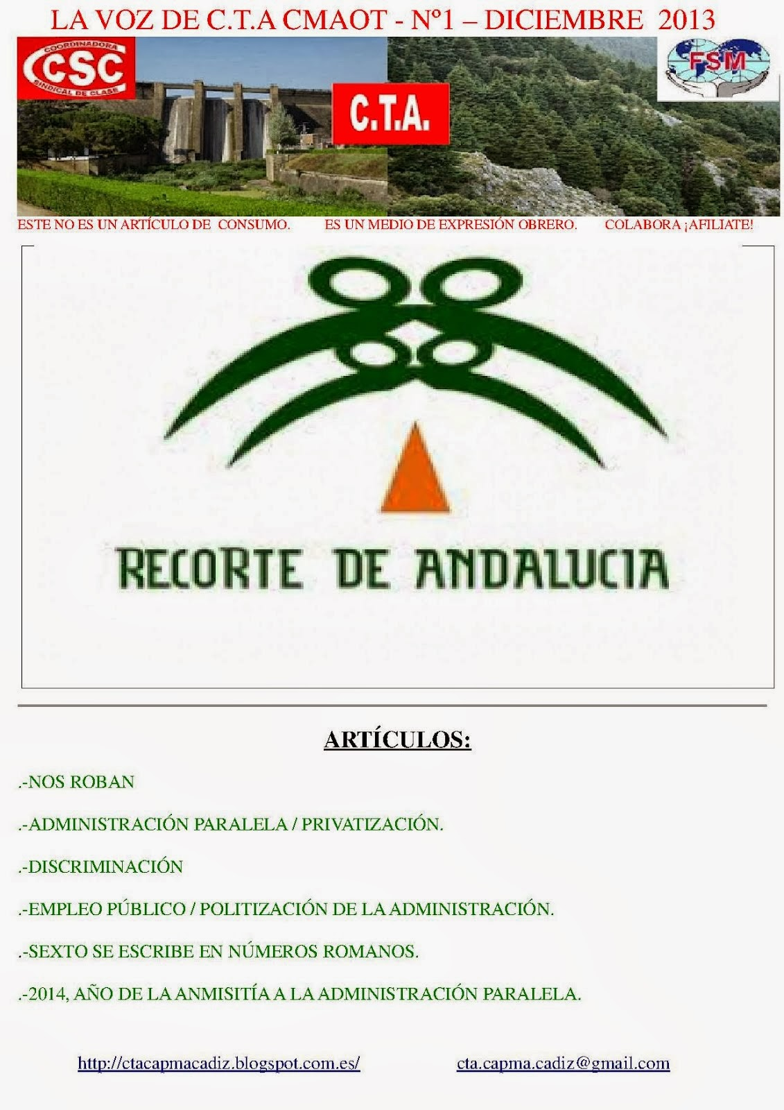 Revista nº1 Sec. Sindical C.T.A. CMAOT