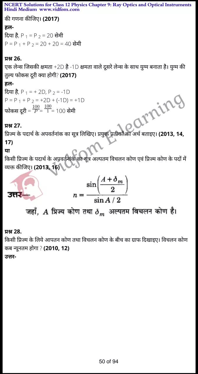 class 12 physics chapter 9 light hindi medium 50