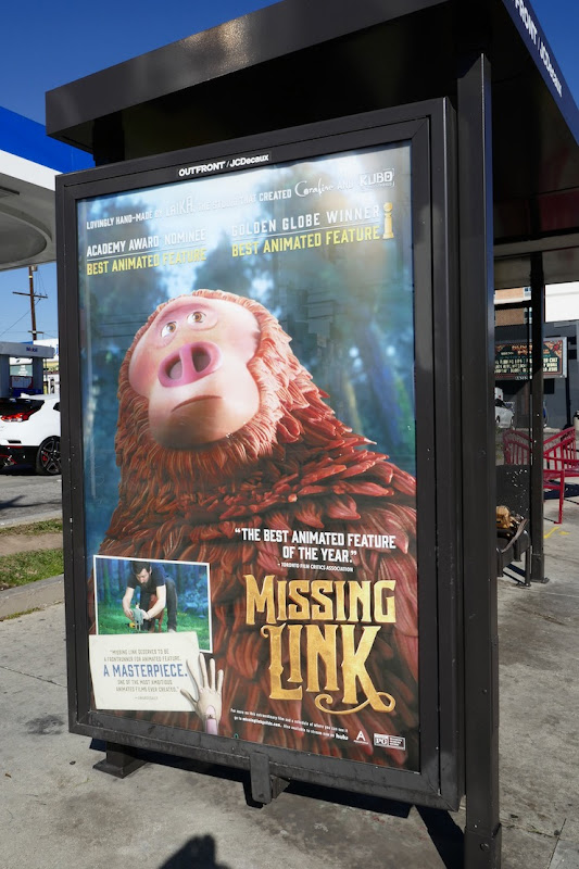 Missing Link Oscar nominee bus shelter poster