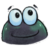 single illustration of tadpole