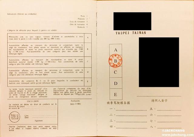 Taiwan International Driver License