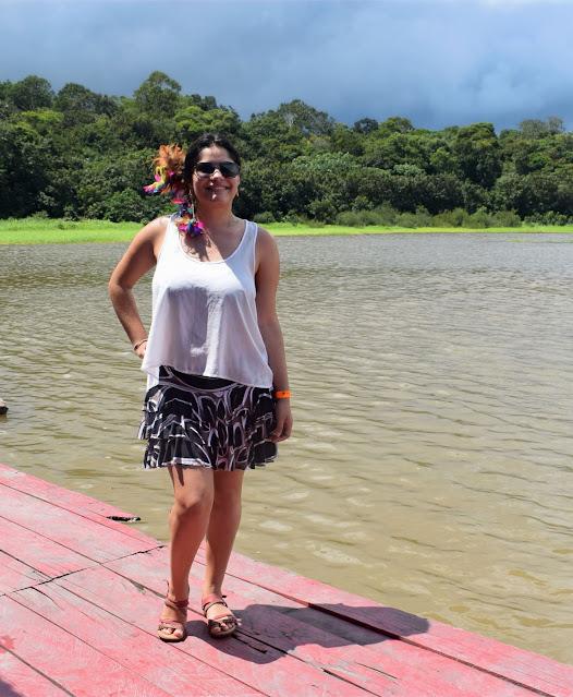 rio esverdeado
