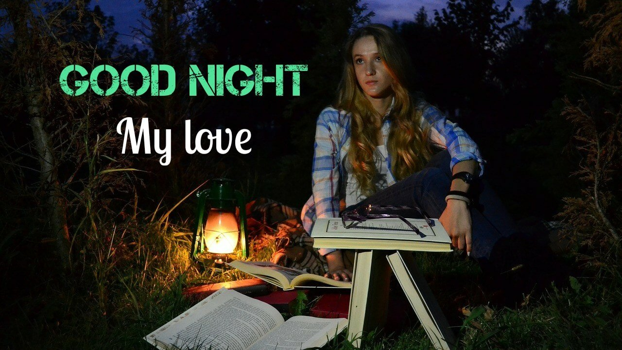 Romantic Good Night My Love Image for Facebook