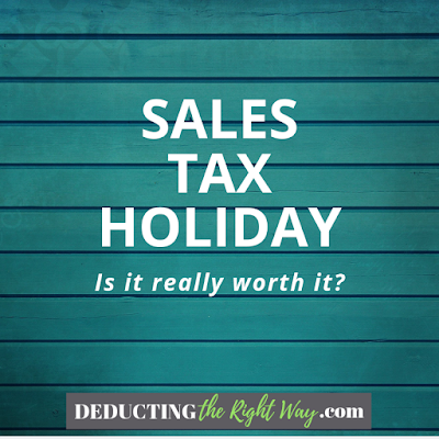 Sales Tax Holiday | www.deductingtherightway.com