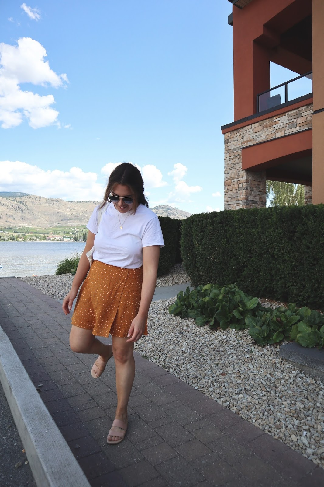 Osoyoos bc watermark resort from rache skirt le chateau leather sandals