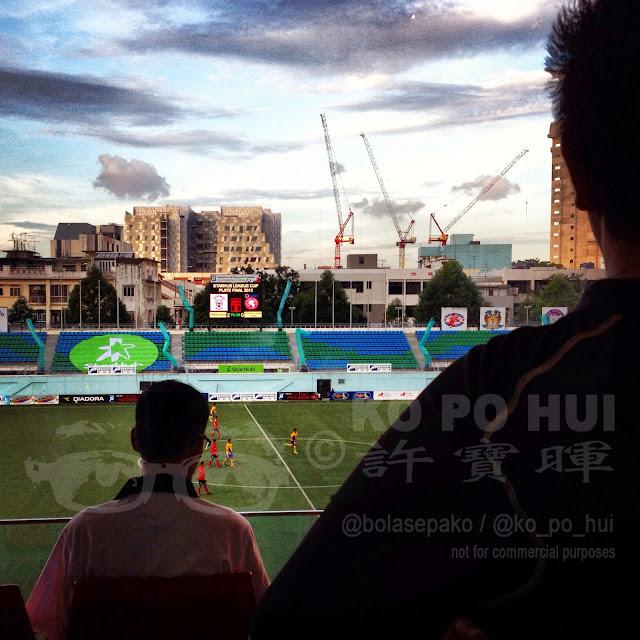 A Starhub League Cup match played at Jalan Besar Stadium