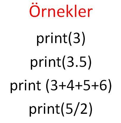 değerler ve değişkenler örnek-1