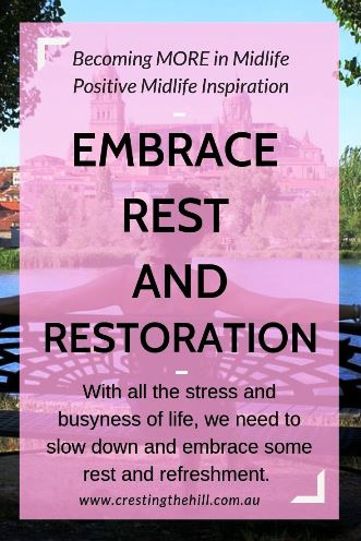 With all the stress and busyness of life, we need to slow down and embrace some rest and refreshment. #wellness