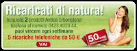 Logo Ricaricati di Natura con Antica Erboristeria = primo concorso!