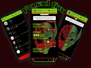 Skull Green Theme For YOWhatsApp & Fouad WhatsApp By Ave fénix
