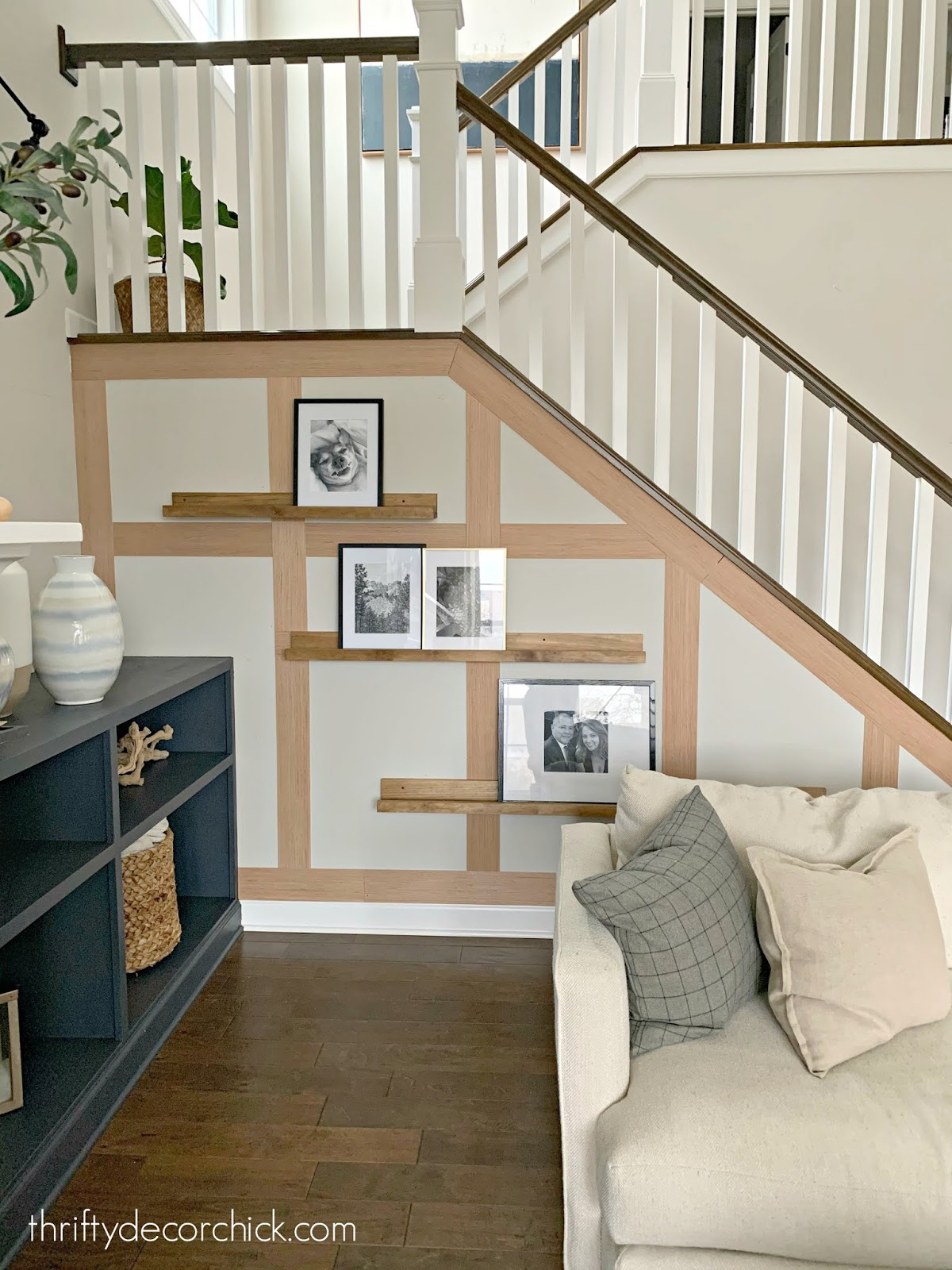 how to create a board and batten stair wall