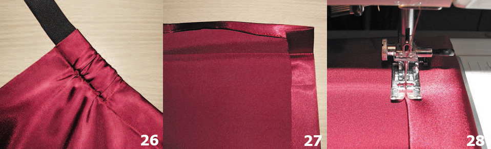Цветы из сетки, атласная драпировка, плетеная отделка