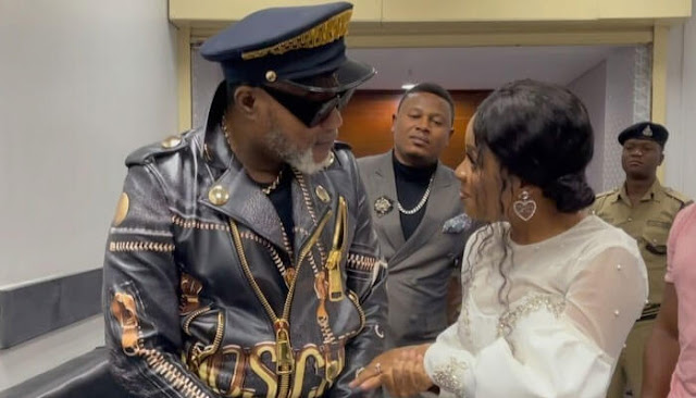 Nandy with her collabo master Koffi Olomide Photo