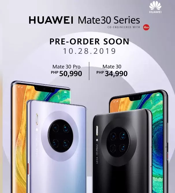 Huawei Mate 30 and Mate 30 Pro Price and Pre-Order Date