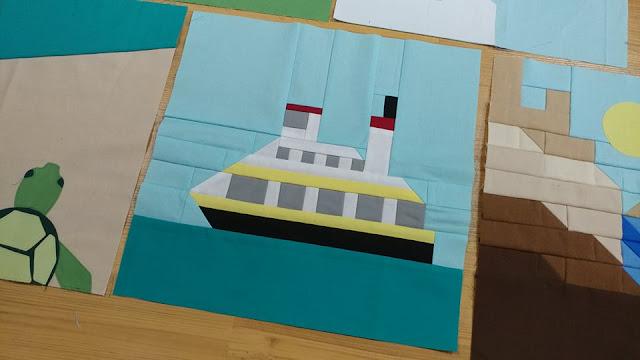 Ferry quilt block