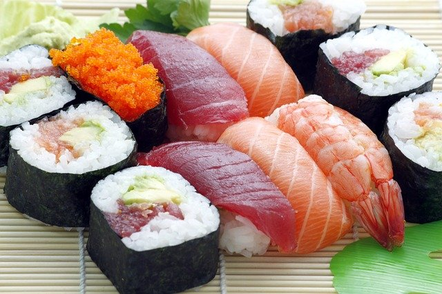 Sushi is healthy