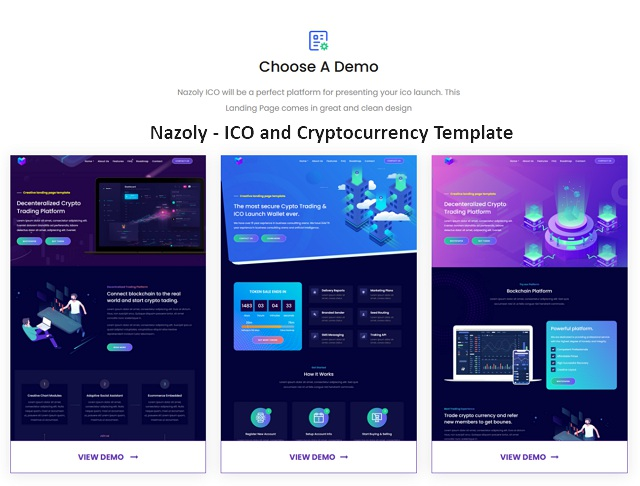 ICO and Cryptocurrency Template