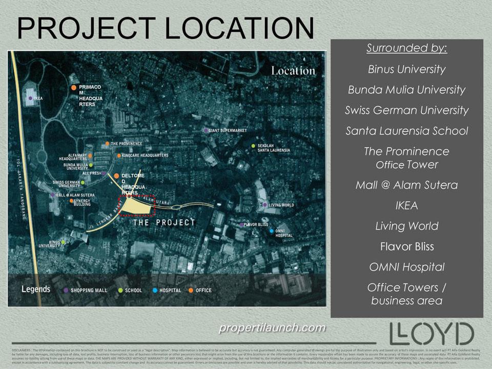 Surrounding Lloyd Alam Sutera